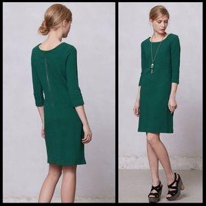 Anthro Ganni Lousa Verdant Green Textured Dress L